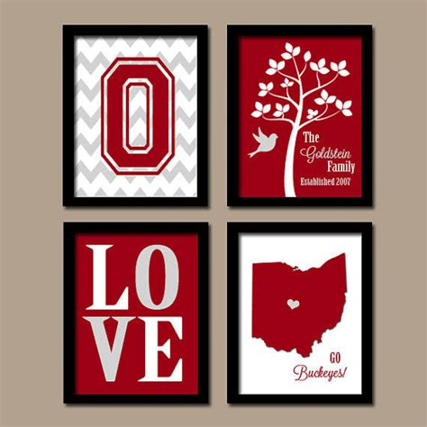 ohio state buckeyes home decor ohio state university buckeyes college from trm design wall art