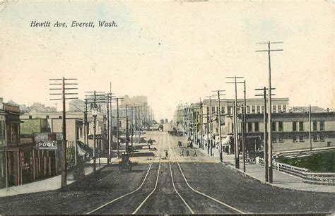Sell Gift Cards Everett Wa - hand colored postcard hewitt ave street scene everett wa snohomish county ebay