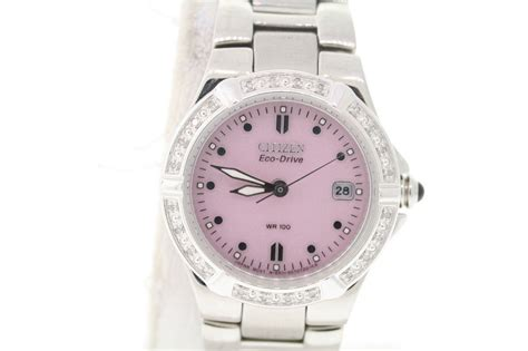 citizen ew0890 58x eco drive stainless pink