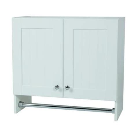 White Laundry Room Wall Cabinets Glacier Bay 27 In X 25 In X 12 In Laundry Wall Cabinet In Country White Wc2725 Wh The Home