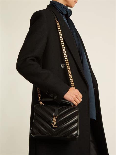 saint laurent ysl college medium leather  suede