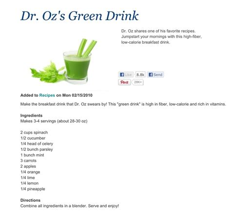 dr oz on pinterest 79 pins dr oz green drink smoothies pinterest