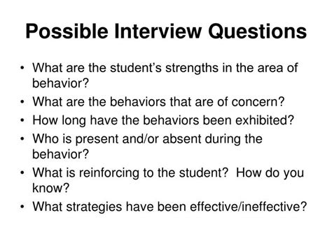 possible interview question ppt functional behavior assessment fba powerpoint