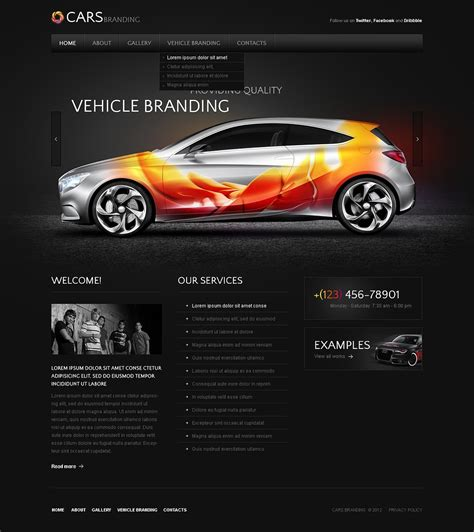 pro vehicle templates vehicle branding website template web design templates
