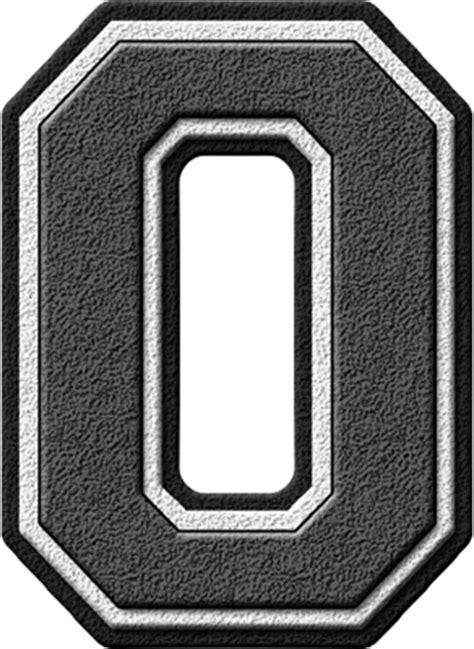 Letter Grey Presentation Alphabets Grey Varsity Letter O