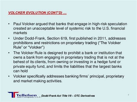 dodd frank section 619 volcker rule update 1210