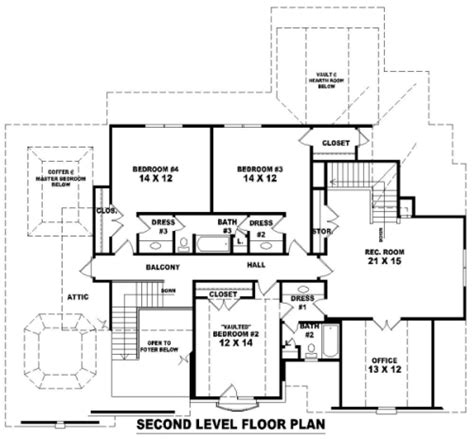 dream house blueprint french dream 8149 4 bedrooms and 3 baths the house