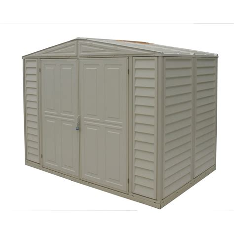 Lowes Vinyl Storage Sheds by Shop Duramax Building Products Storage Shed Common 8 Ft