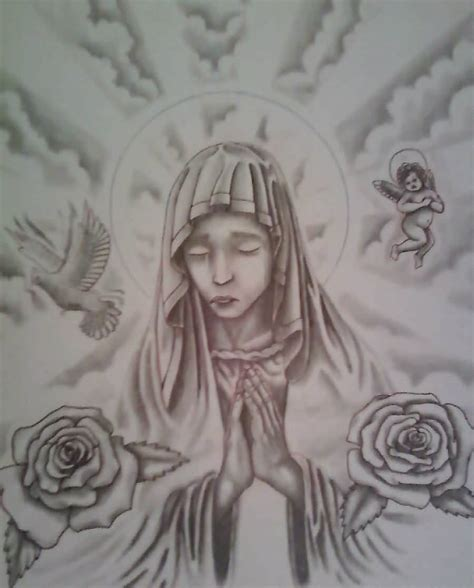 praying mary tattoo designs 13 designs