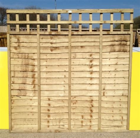 5 Ft Fence Panels With Trellis Rhf Fencing Supplies Isle Of Wight
