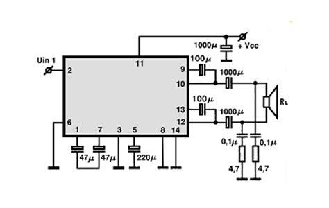 Ic La 4440 Integrated Circuit La4440 la4440 btl audio ic electronic circuits tv schematics audio
