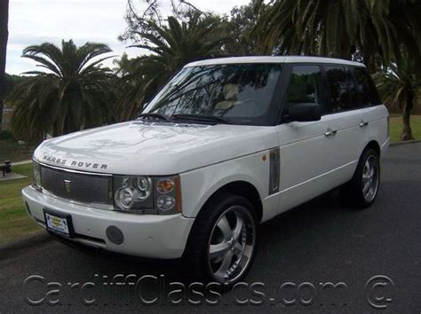 how to sell used cars 2005 land rover range rover user handbook 2005 land rover range rover information and photos momentcar