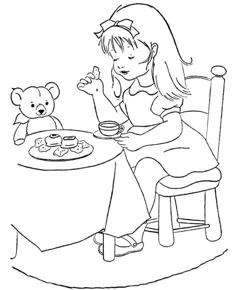 goldilocks coloring page az coloring pages