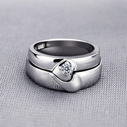 Wedding Bands With Hearts by Magnetic Half Shaped Wedding Rings With Custom