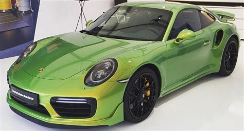 porsche 911 green the paint of this porsche 911 turbo s costs nearly 100 000