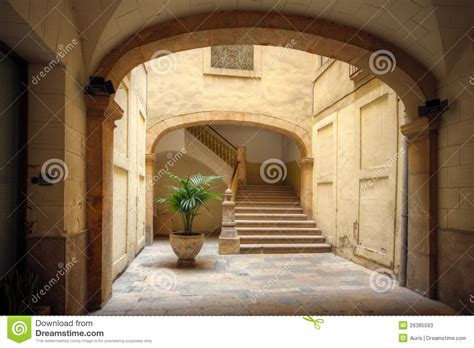 Italian House Plans Courtyard Of Old Spanish Home Stock Photos Image 26385593