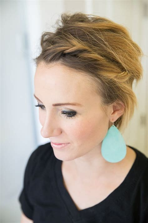 pixie cut with long front easy front twist tutorial for short hair or a long pixie