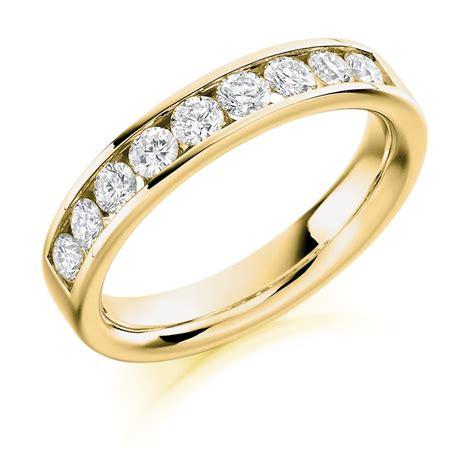 9ct yellow gold 0 70ct half set ring