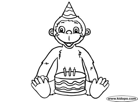 sock monkey coloring pages printable birthday monkey