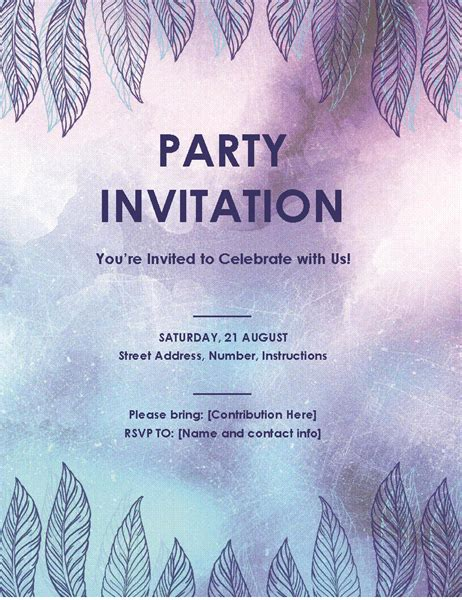 Party Invitation Flyer Invitation Flyer Templates