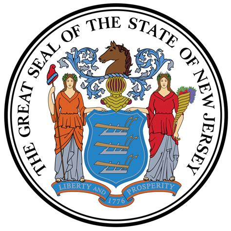 new jersey state colors file new jersey state seal approved color version svg