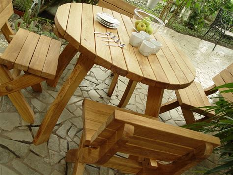 Handmade Patio Furniture - solid oak garden furniture modern patio outdoor
