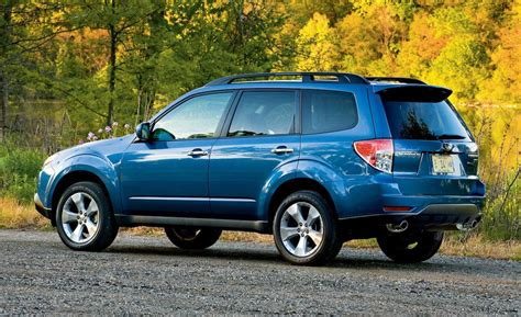 blue subaru forester 2009 car and driver