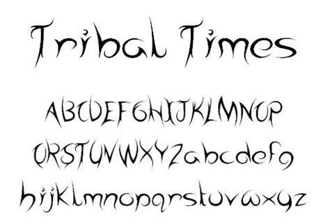 tattoo tribal fonts free tattoo fonts with tribal designs to boost your font