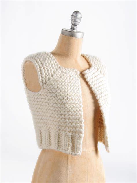 knitting pattern vest top blue sky alpacas lanesboro vest top down chunky wool