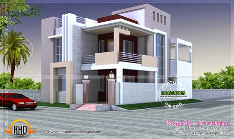 home design in 100 gaj house exterior elevation modern style kerala home design