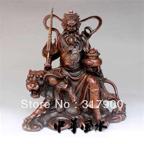 Home Decor Buddha Statue by Chinese Ride Tiger God Of Wealth Bronze Buddha Statue In