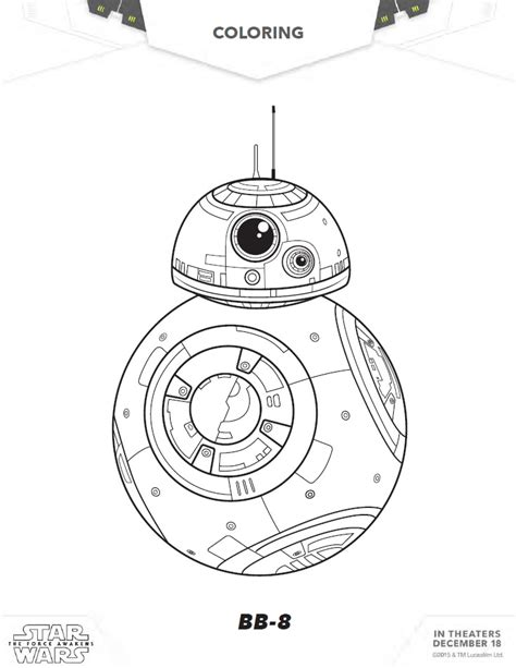 lego bb 8 coloring page free coloring pages of star wars luke skywalker