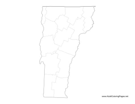 vermont map coloring page vermont coloring page