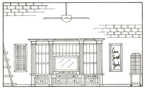 Living Room Hike Elevation Interior Design Studio 1 Residential Design On Scad