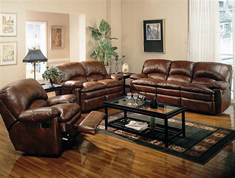 living room design with leather sofa living room decor ideas with brown furniture
