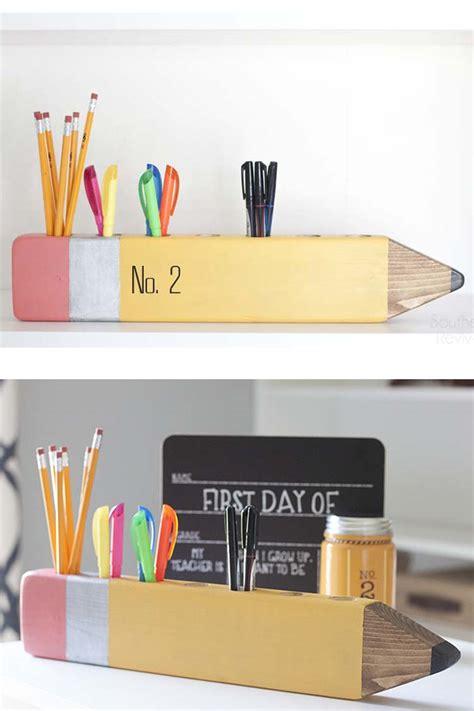 back to school diy pencil desk organizer