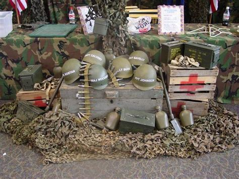 army themed decorations theme event rentals display