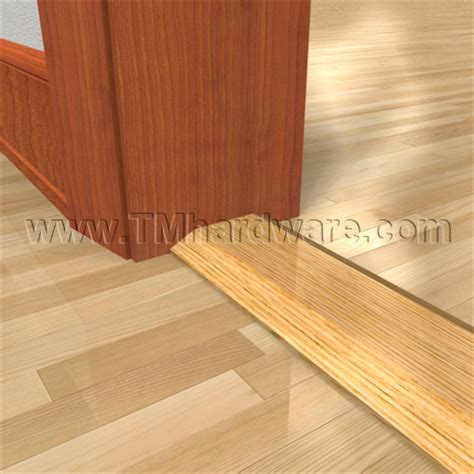 wooden exterior door threshold 3 quot oak seam binding and threshold by pemko www tmhardware