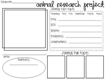 Animal Research Graphic Organizer By Yay3rdgrade Tpt