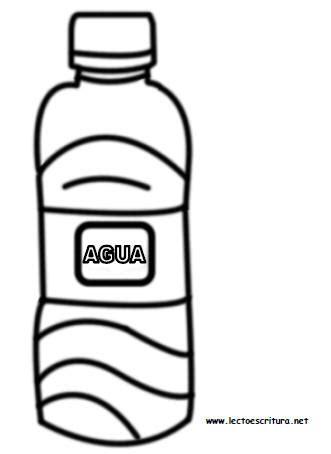 Único Botella De Agua Para Colorear Composición - Ideas Para ...