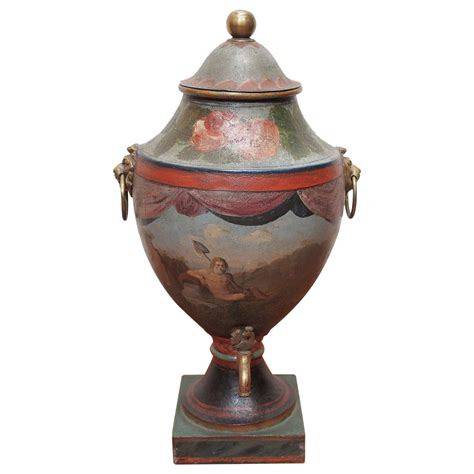 18th century painted tole hot water urn at 1stdibs
