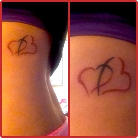 double heart tattoo hearts flash design and dagger