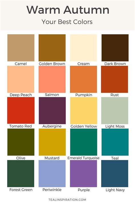 warm autumn color palette best 25 warm autumn ideas on pinterest deep autumn