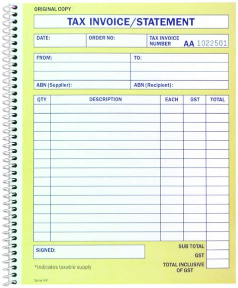 28 australia tax invoice template australia tax