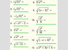 Radical Expressions - Questions with Solutions for Grade 10 Maths Quiz Questions With Answers For Class 10