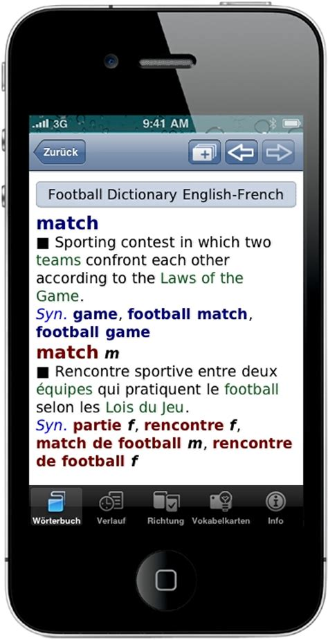 mobile dictionary official uefa football dictionary for apple devices