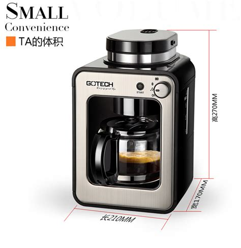Coffee Maker Di Malaysia gotech dual use automatic americano coffee grinder and