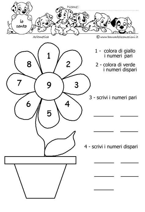 banca delle emozioni matematica bambini aritmetica pari e dispari colora e scrivi i