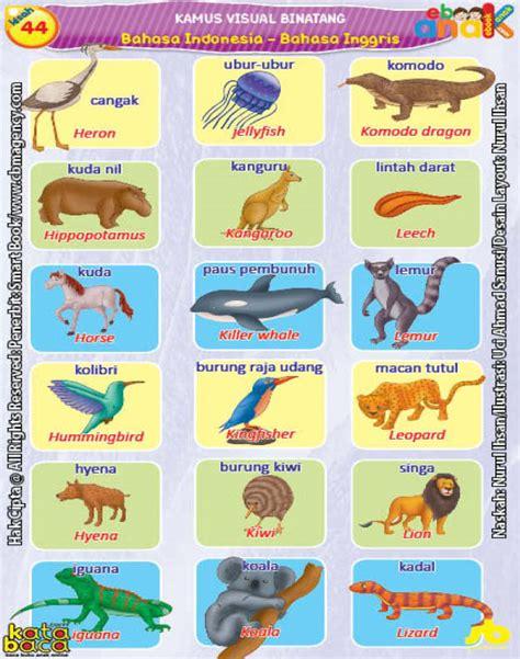 Kamus Pelajar Inggris Indonesia kamus visual binatang dua bahasa indonesia inggris 6 ebook anak