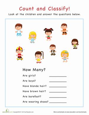 Hair Style Tools Name Farm by Count And Classify Worksheet Education